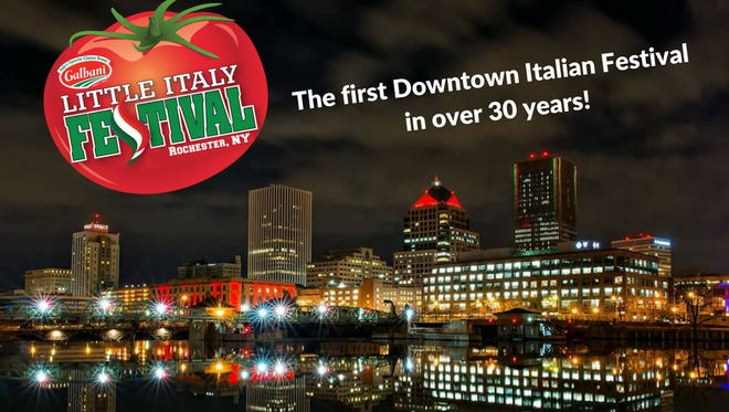 Poster advertising the 2017 Little Italy Festival in Rochester.