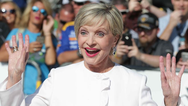 Florence Henderson served as grand marshal for the 100th running of the Indianapolis 500 on May 29.