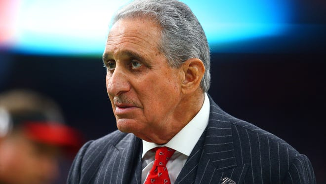 Feb 5, 2017; Houston, TX, USA; Atlanta Falcons owner Arthur Blank on the sidelines against the New England Patriots during Super Bowl LI at NRG Stadium. Mandatory Credit: Mark J. Rebilas-USA TODAY Sports
