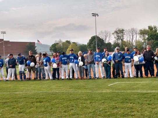 McConnellsburg's baseball team hosted its Parent Appreciation