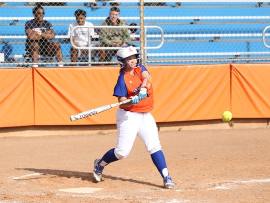 San Angelo Central High School's Maddie Stewart swings