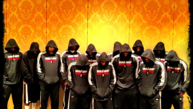 LeBron James and his Miami Heat teammates wore hoodies in solidarity with the Trayvon Martin family following the unarmed teenager's death in 2012.