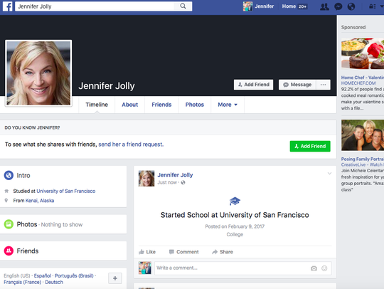Facebook Clone- Fake page