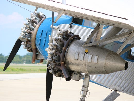 """The restored 1929 Ford Tri-Motor """"Tin Goose"""" brought"""