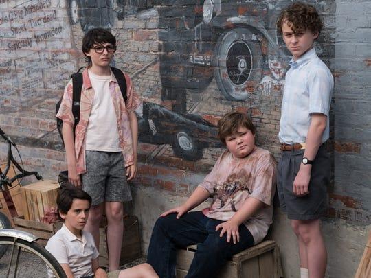 Jack Dylan Grazer (from left), Finn Wolfhard, Jeremy