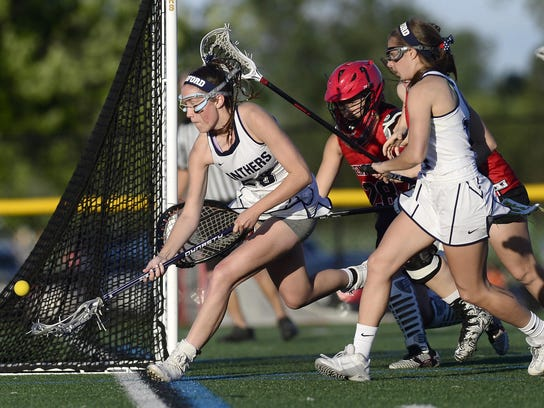Pittsford's Sarah Stark, left, is one of the veteran leaders for a team trying to win a fifth straight Section V Class A crown.