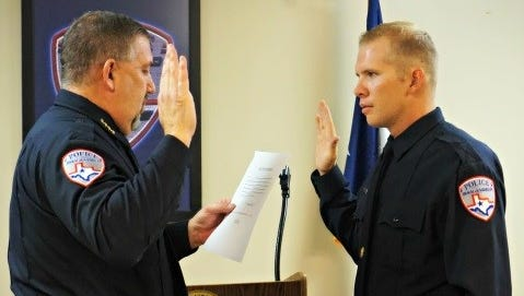San Angelo Police Department holds swearing in ceremony at police headquarters July 2018.