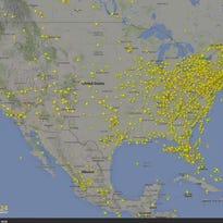FlightRadar24 has released a video showing 24 hours of flight activity over the U.S.