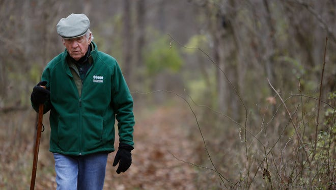 John Ruthven, in 2014, on his wooded 165-acre property in Georgetown, Ohio.