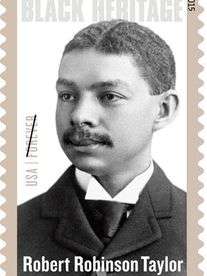 Stamp featuring Robert Robinson Taylor.