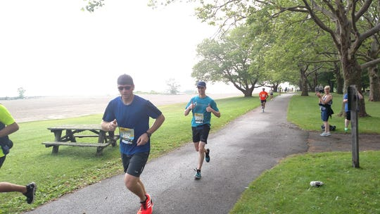 Feeling pretty good as I approach the finish line at