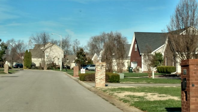 The 800 block of Isaac Drive in Clarksville, where a man was found shot to death Monday night.