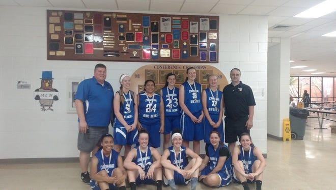 The Carolina Blue Devils girls basketball team won a championship at last weekend's Mountain Mayhem tournament in Hendersonville.