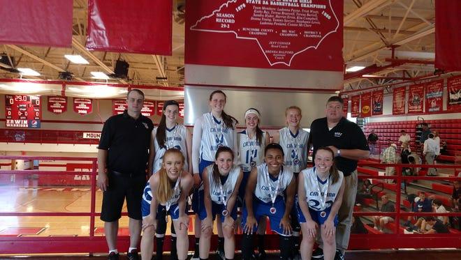 The Carolina Blue Devils girls basketball team won last weekend's Jet Jam tournament in Buncombe County.