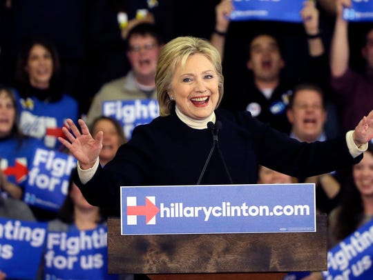 Hillary Clinton addresses supporters in after losing