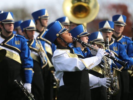 November 7, 2015. Walnut Hills Marching Band, competition, Paris, Liz Dufour