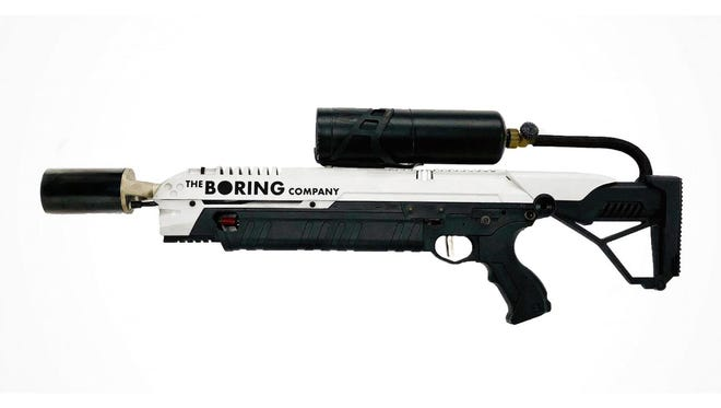 A flamethrower being offered for sale by Elon Musk and The Boring Company.