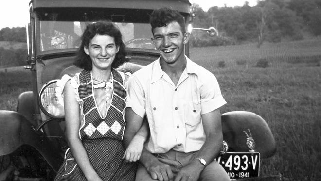 In this September 1941 photo provided by Dick Felumlee, Kenneth and Helen Felumlee pose for a photo nearly three years before their marriage in February 1944.