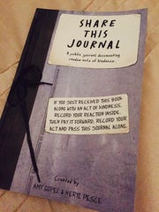 """""""Share This Journal"""" is a book of random acts of kindness"""
