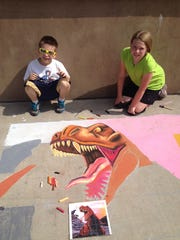 Jack and Ella Lambrecht at last year's Chalkfest 2015.