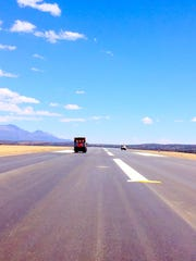 The new surface allows larger aircraft to land at Sieera Blanca Regional Airport in Ruidoso.
