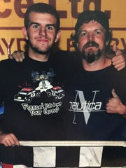 Roger Rush Jr. (right) was a proud father when his
