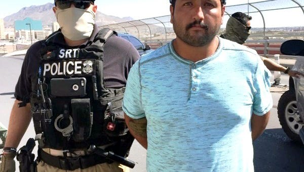 Mexican fugitive Salvador Estrada Zapata, 29, was wanted on a homicide warrant and was deported Thursday at the Stanton Bridge in El Paso.