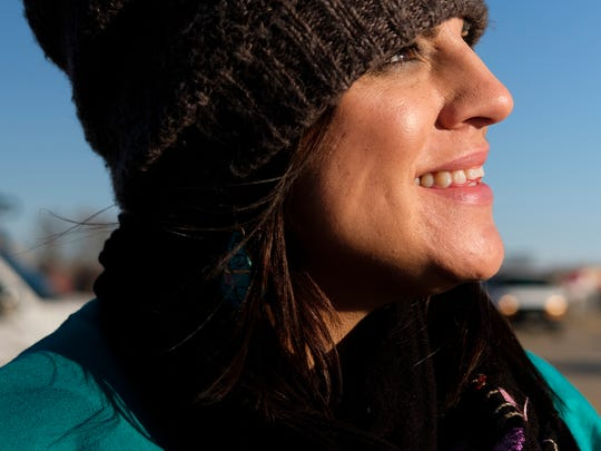 Tami DeCoteau, owner of DeCoteau Psychology in North Dakota, poses for a portrait at the Oceti Sakowin campground near Cannon Ball, N.D. after she and several others conducted an assessment on mental health needs for Dakota Access Pipeline protesters at the camp.