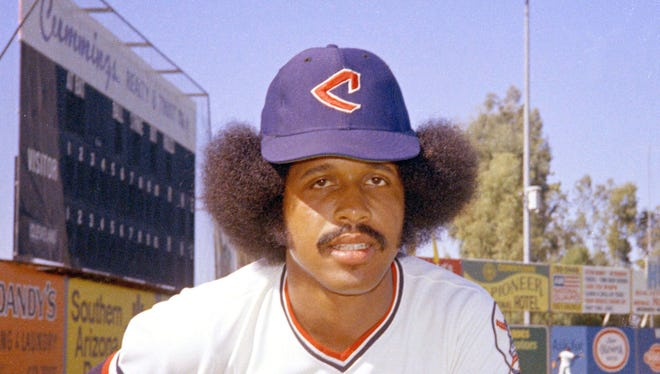 Oscar Gamble in a 1974 picture. The G.W. Carver High graduate died Wednesday of a rare tumor of the jaw. He was 68.  RHH/AP In this 1974 file photo, Cleveland Indians baseball player Oscar Gamble poses. Gamble, an outfielder who hit 200 home runs over 17 major league seasons, died Wednesday, Jan. 31, 2018, of a rare tumor of the jaw. He was 68. (AP Photo/RHH, File)