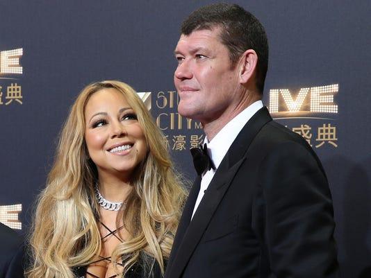 Mariah Carey, Lawrence Ho, James Packer, Sharen Lo