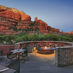 Enjoy stunning views of Sedona's red rocks with your private deck at Enchantment Resort.