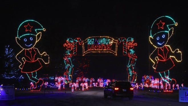 A mile-long drive-through holiday lights experience will run Nov. 13-Jan. 2 at Gillette Stadium.