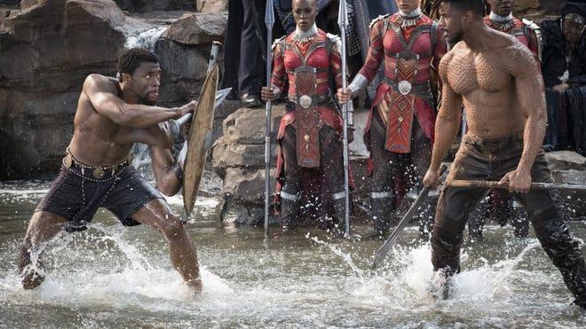 """""""Black Panther"""" stars Chadwick Boseman, Michael B. Jordan, Lupita Nyong'o, Angela Bassett, Danai Gurira, Letitia Wright, Daniel Kaluuya, Winston Duke and Andy Serkis."""