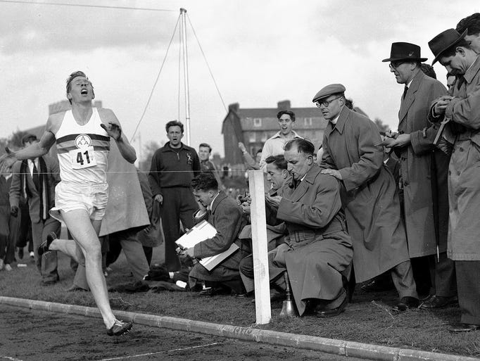 FILE - In this May 6, 1954 file photo, Britain's Roger