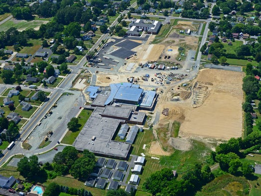 Snow Hill High School construction site in June of 2014.