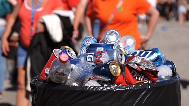 Post-party trash at the 2013 edition of Carb Day.