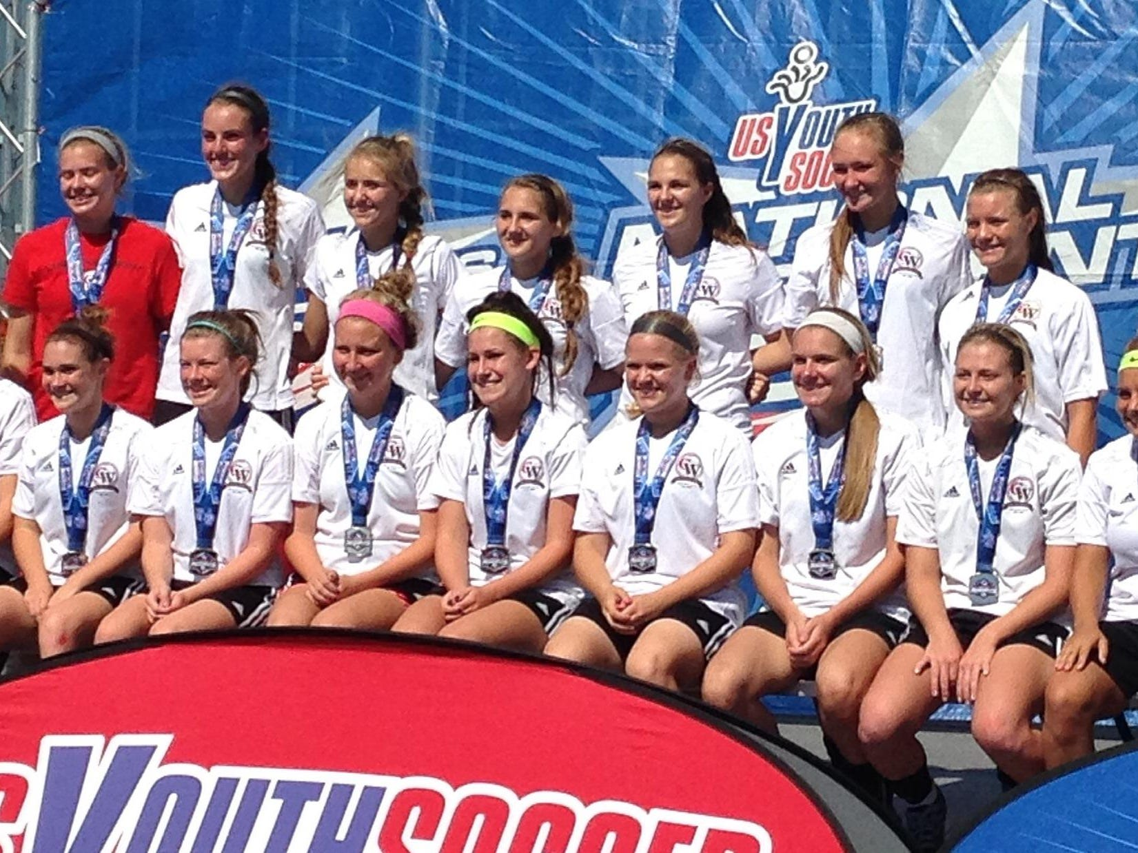 Cincinnati West Soccer Club's U17 girls advanced to the championship match of the President's Cup National Championship.
