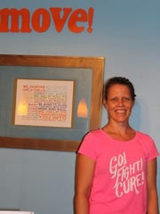 Michelle Els, trainer and owner of Move! Fitness Studio in Long Valley. The gym is hosting 'Move! For A Cure' on Sunday, Oct. 30 to raise funds for The Breast Cancer Research Fund. October is Breast Cancer Awareness Month.