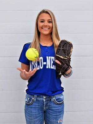 Colo-NESCO senior Rylee Purvis can do it all on the softball diamond. Purvis plans on making the most of her final season in a Royal uniform, starting Monday in Colo-NESCO's season opener against GMG in McCallsburg. Contributed photo by Sandy Cutler.