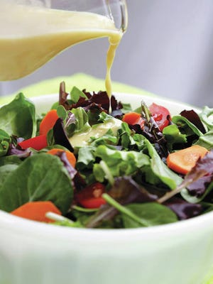 Homemade Caesar salad dressing.