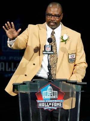 Chris Doleman, pictured during his 2012 Pro Football Hall of Fame induction, died Tuesday. Doleman was diagnosed in 2018 with glioblastoma, from which former U.S. Senator John McCain died in 2018.