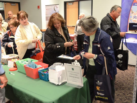 Vendor booths were crowded in the afternoon as visitors got information about various services offered at a previous Senior Expo.