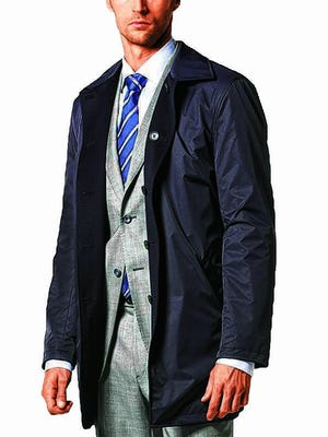J. Hilburn markets a line of all-weather reversible jackets.