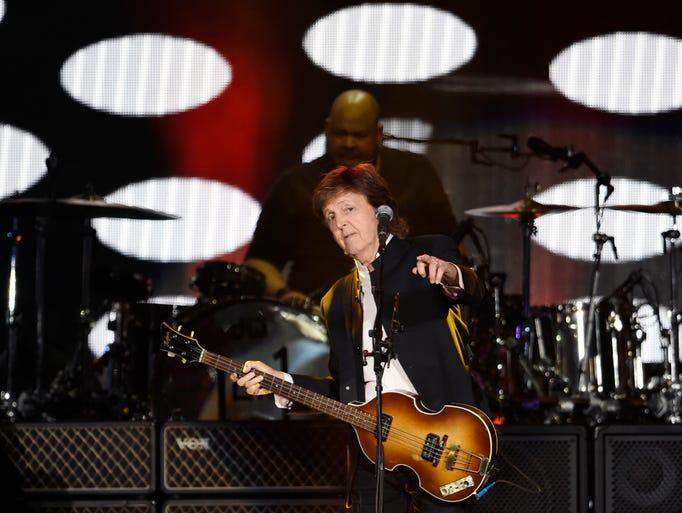 Paul McCartney performs on Day 2 of the 2016 Desert