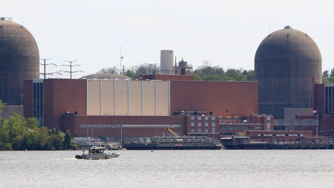 The Indian Point nuclear power plant in Buchanan, as seen from across the Hudson River in Tomkins Cove May 9, 2016.
