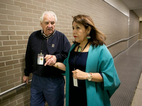 Ted Harenda of Wausau, left, and Tina Morales of Chile