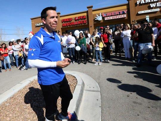 Mario Romero, owner of OTT Martial Arts School speaks