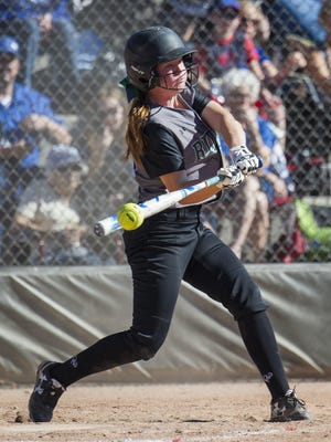 Fossil Ridge High School's Mia Moddelmog is tied for the lead in RBIs with 26.