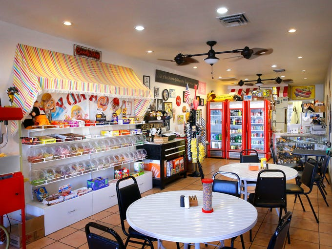 The interior of  Wimpy's Paradise in Chandler is a
