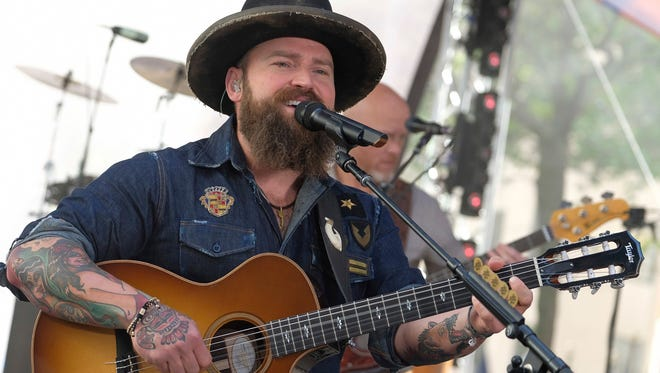 Zac Brown from the Zac Brown Band performs on NBC's Today show.